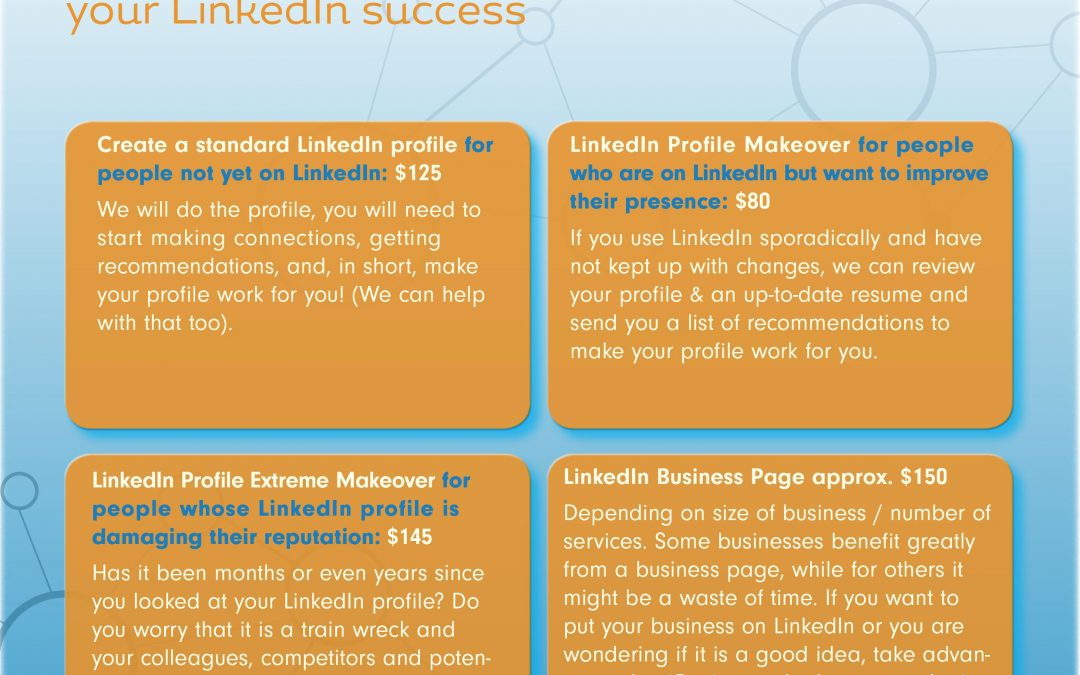 Make your 2018 business resolution today – An effective, LinkedIn profile that is (net)working for you.